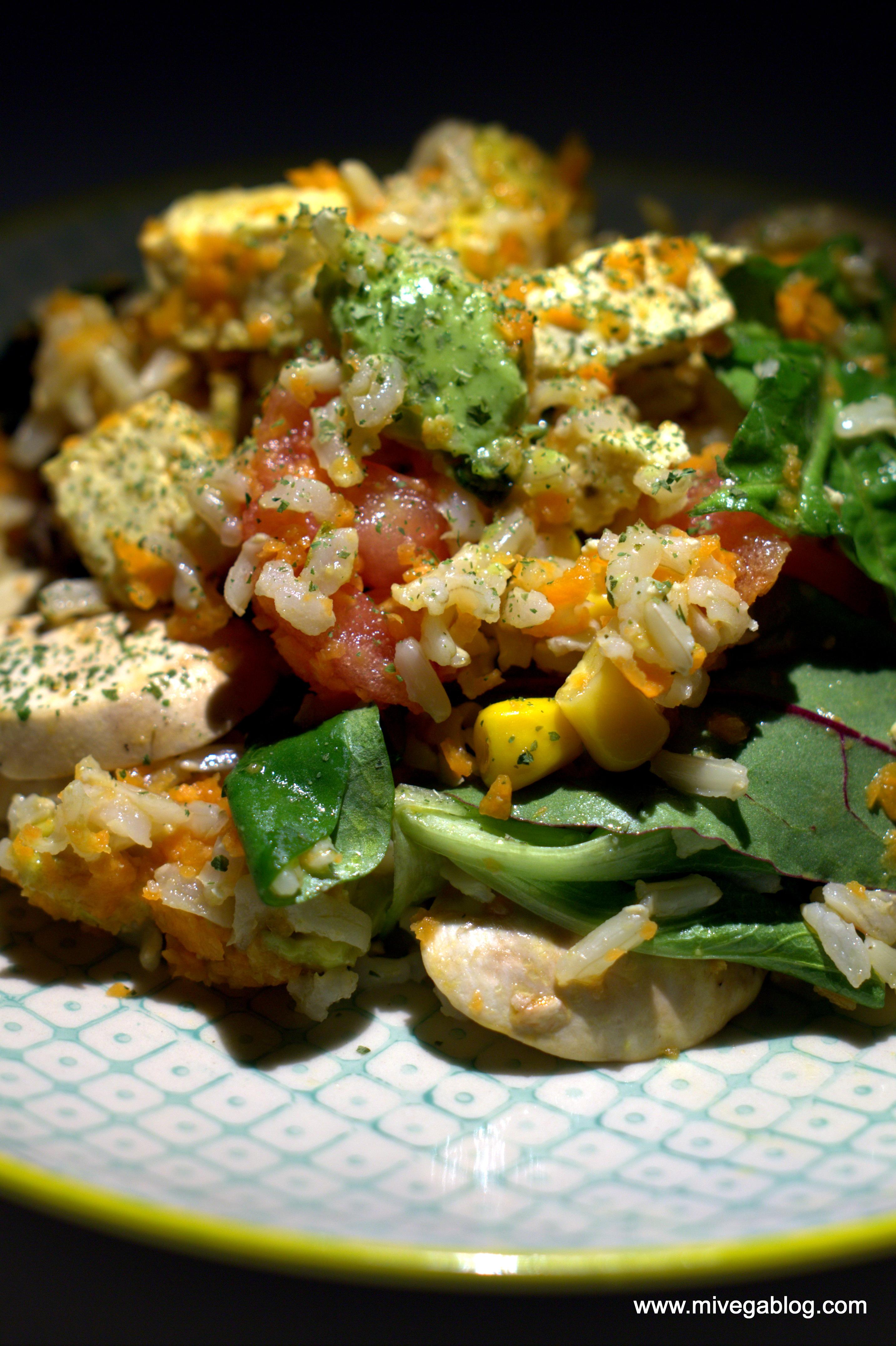 Ensalada de arroz basmati integral mivegablog - Ensalada de arroz light ...